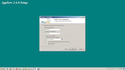 cara install AppServ di localhost