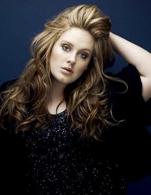 Adele posando para sesión de foto