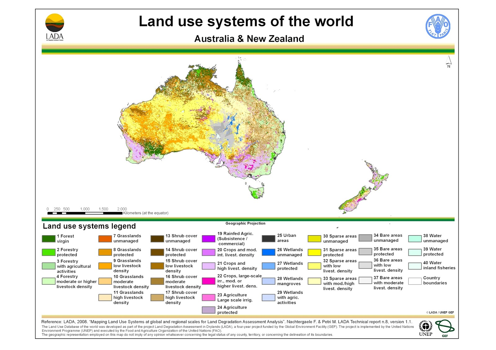 Australia: Land use map
