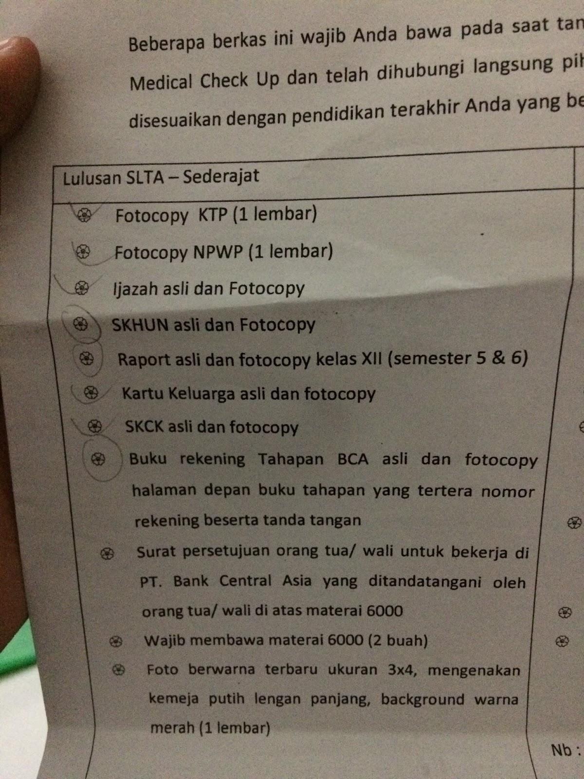 Contoh Surat Persetujuan Orang Tua Untuk Bekerja Di Bca ...