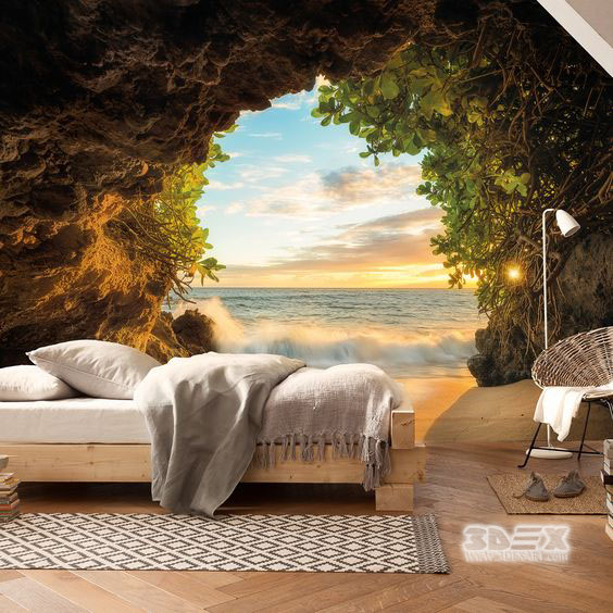 Wallpaper Bedroom Ideas: +40 Stylish 3D Wallpaper For Living Room Walls, 3D Wall Murals