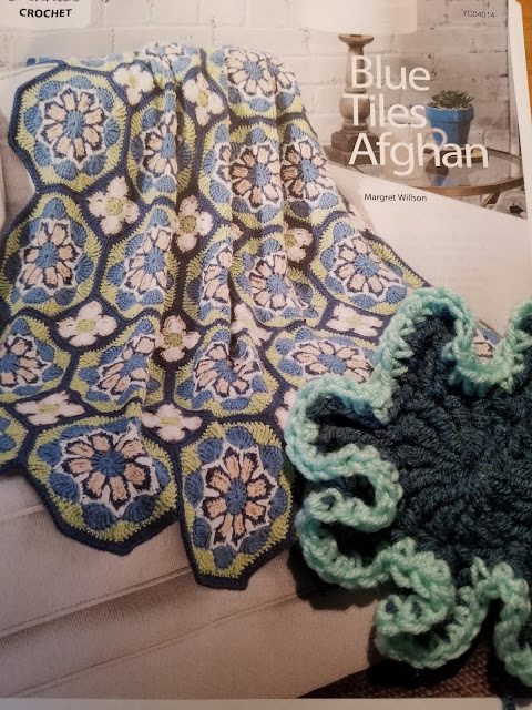 Crochet Blue Tiles Afghan pattern
