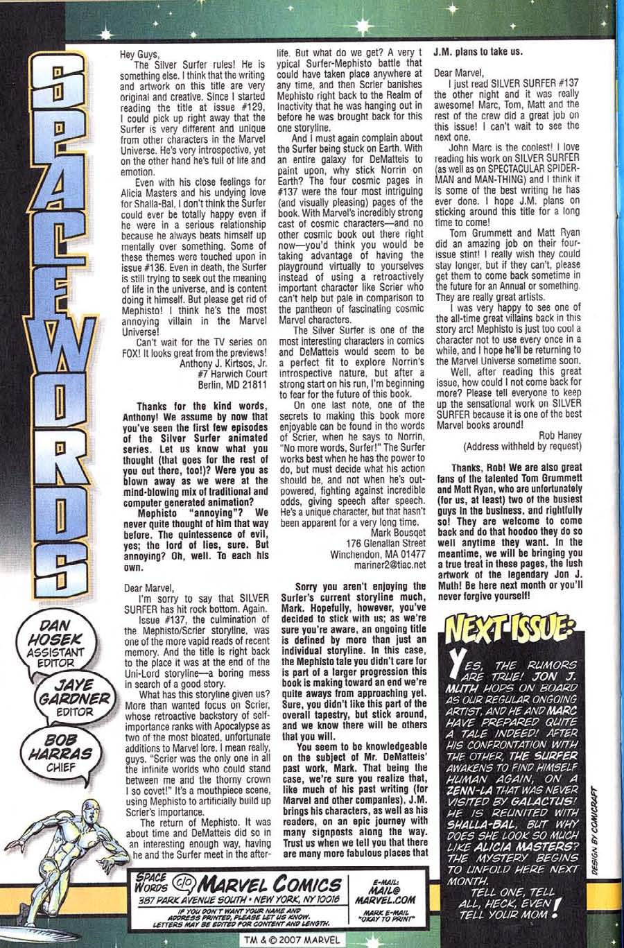 Read online Silver Surfer (1987) comic -  Issue #139 - 36