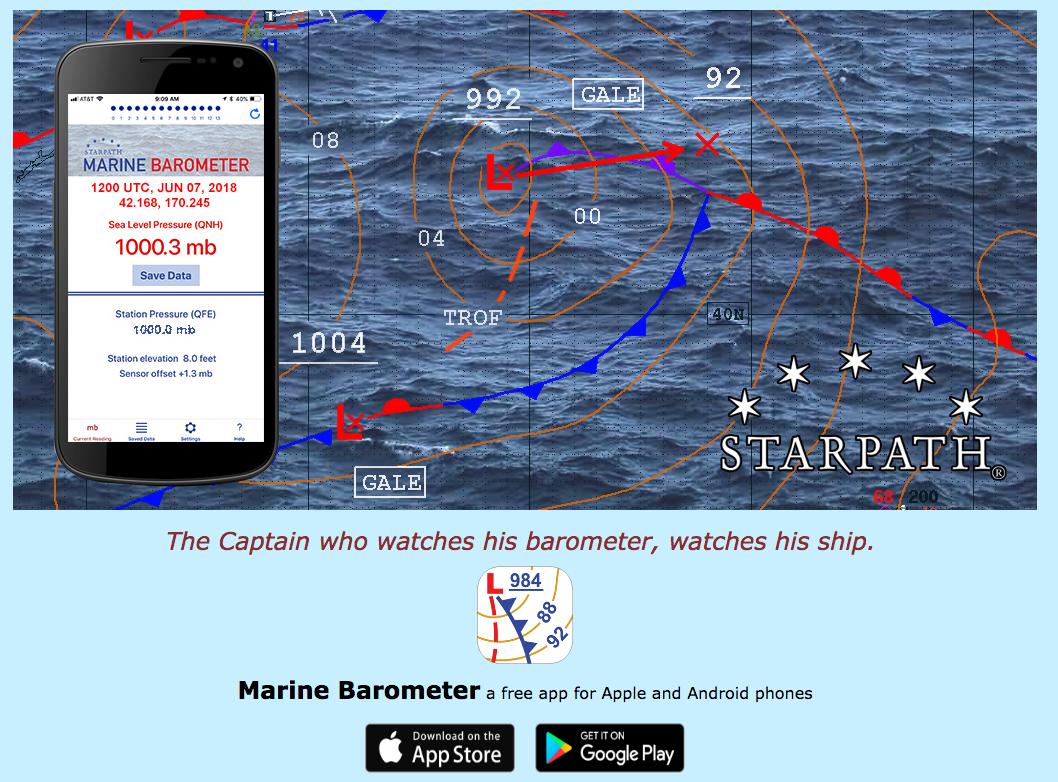 free barometer app designed for mariners