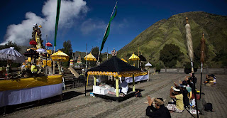 The Yadnya Kasada Ceremony Time in Mount Bromo