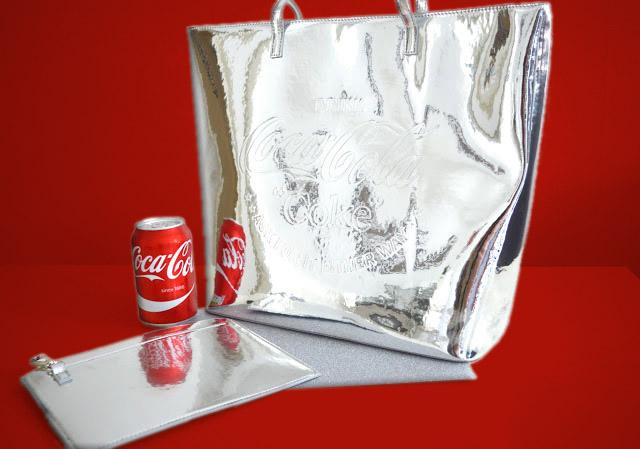 Skinnydip x Coca Cola Silver Bag