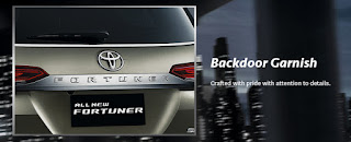 All-New-Fortuner Backdoor Garnish