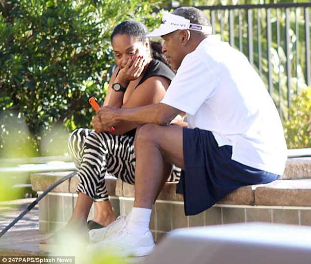 OJ Simpson pictured playing golf with his daughter at his Las Vegas home