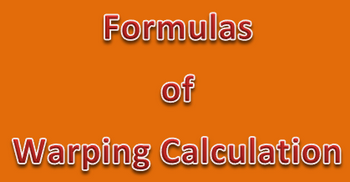 Different Formulas of Warping Calculation with Examples