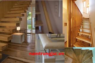 mặt bậc tay vịn cầu thang gỗ