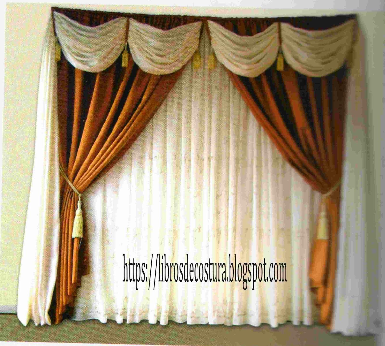 Libros de costura como hacer cortinas paso a paso for Modelos de cortinas modernas para sala y comedor