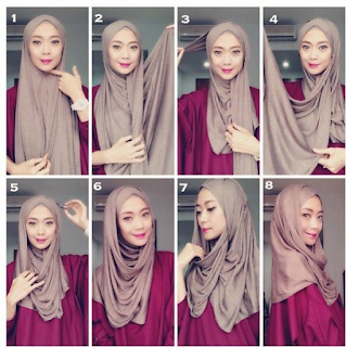 Tutorial Hijab Pashmina Kaos Untuk Acara Kasual Dan Pesta