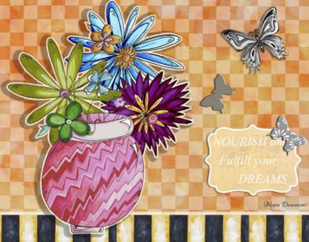 Cuadros modernos pinturas y dibujos flores de gran - Cuadros gran formato ...