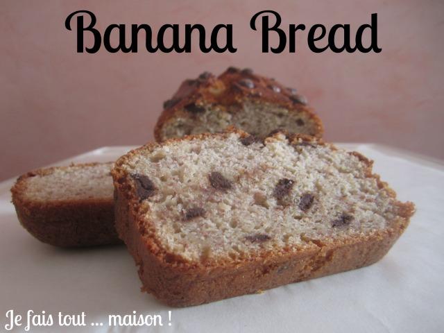Recette du banana bread (cake banane chocolat)
