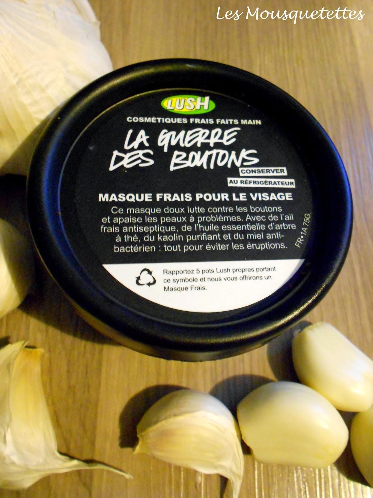 Masque Frais La Guerre des Boutons Lush - Les Mousquetettes©