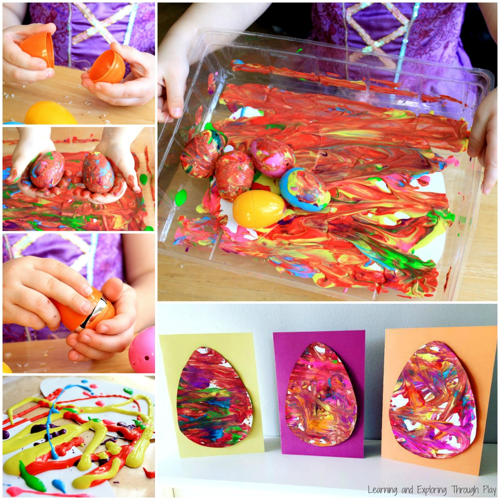 Learning And Exploring Through Play Easter Egg Process