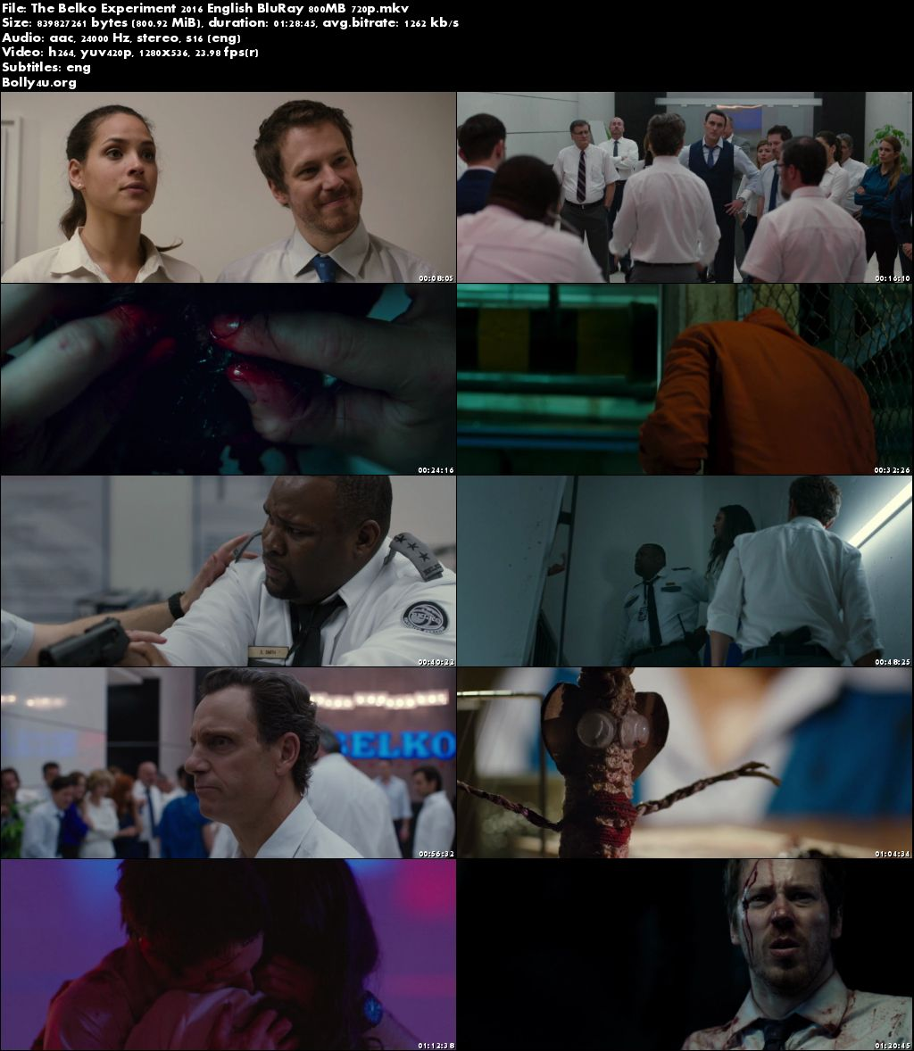 The Belko Experiment 2016 BluRay 275Mb English 480p ESubs Download