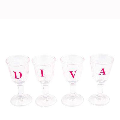 Copos de Tequila Shot Diva Rosa Pink