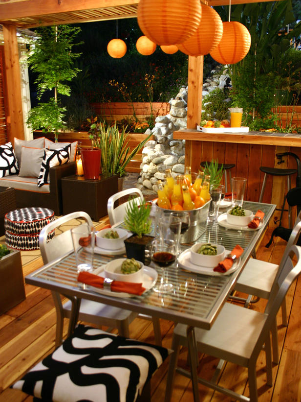 Interior Design: Table Settings for Outdoor Entertaining on Backyard Table Decor id=34813