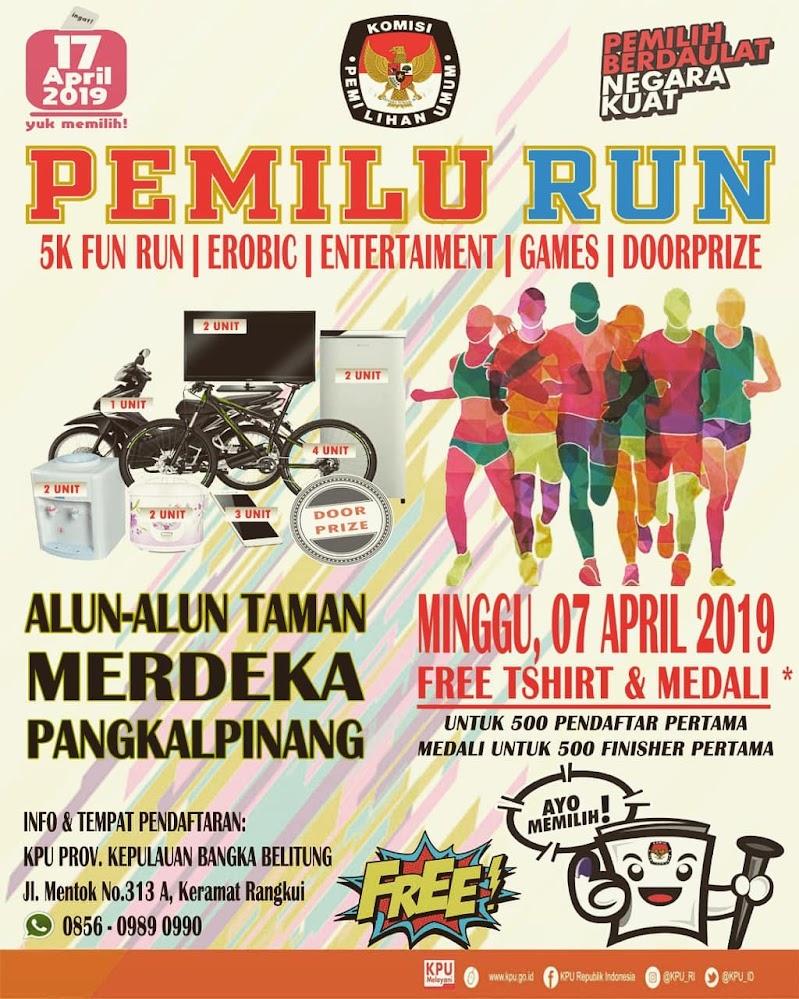 Pemilu Run - Provinsi Kepulauan Bangka Belitung • 2019