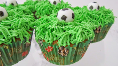 football cupcakes, cupcakes futbol, cupcakes sin gluten, gluten free cupcakes|azucar con arte