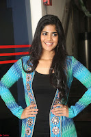 Megha Akash in a beautiful Anarkali dress with Long Jacket at LIE success meet ~  Exclusive Celebrities Galleries 028.JPG