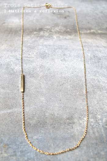 Collier chaîne fine dorée Trois Petits Points bijoux Lingot