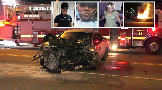 Identifican tres dominicanos que murieron quemados en aparatoso choque en Filadelfia