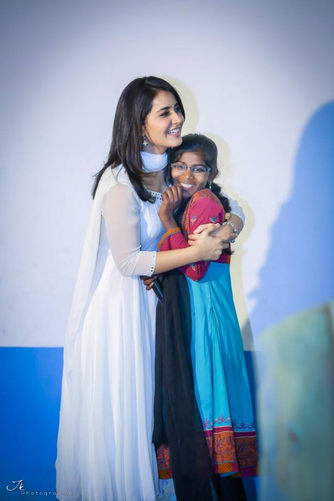 Actress Rashi Khanna Diwali Celebration With Desire Society Kids