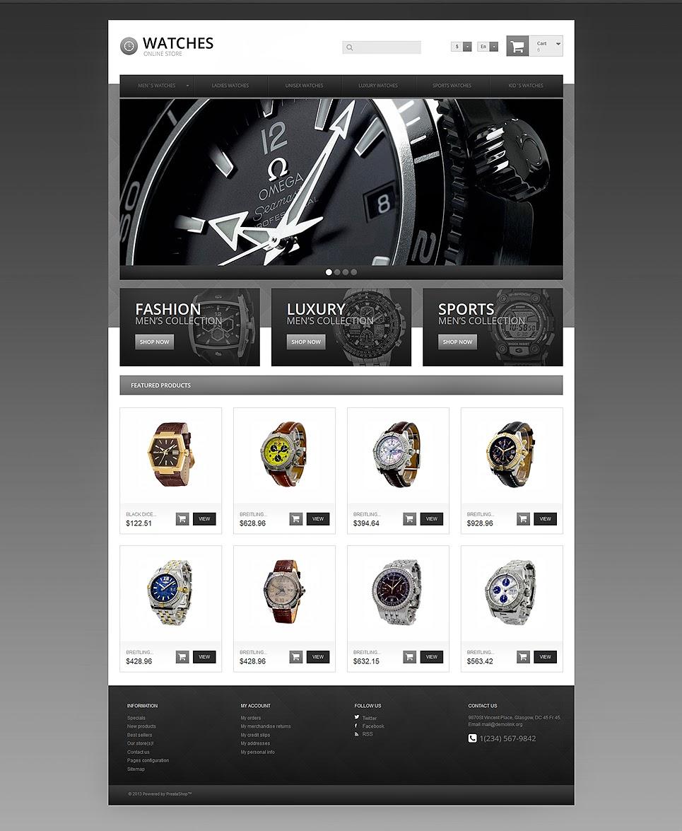 thiết kế web bán đồng hồ đẹp