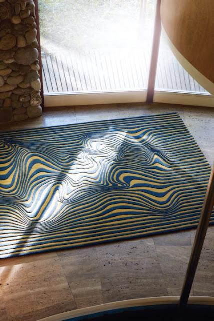 Carpet With Wave Motif