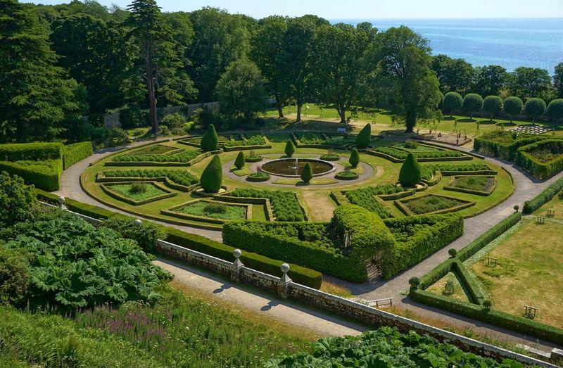 parterre jardín formal en Escocia