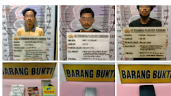 Sembunyikan Sabu di Toko Kosmetik, 3 Orang Diamankan Polisi