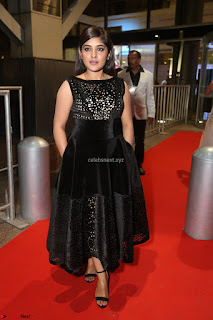 Niveda Thomas Black Sleeveless Cute Dress at 64th Jio Filmfare Awards South 2017 ~  Exclusive 106.JPG