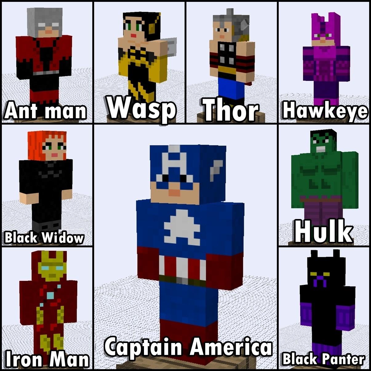 Avengers mod in minecraft
