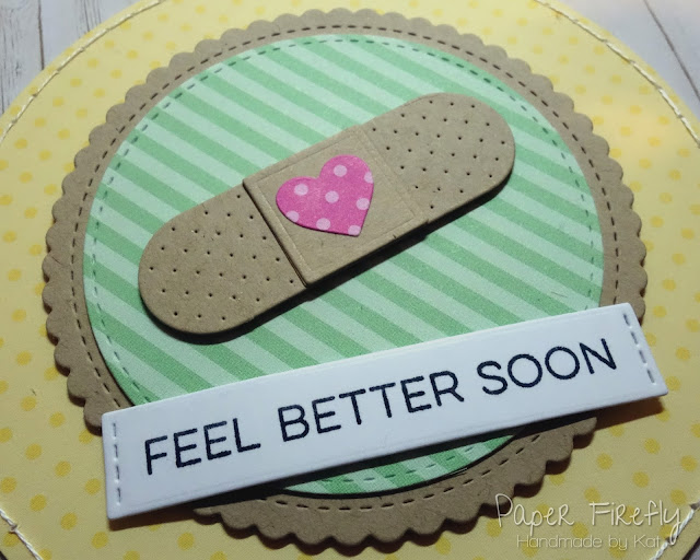 Get well soon card with plaster (MFT Band Aids)