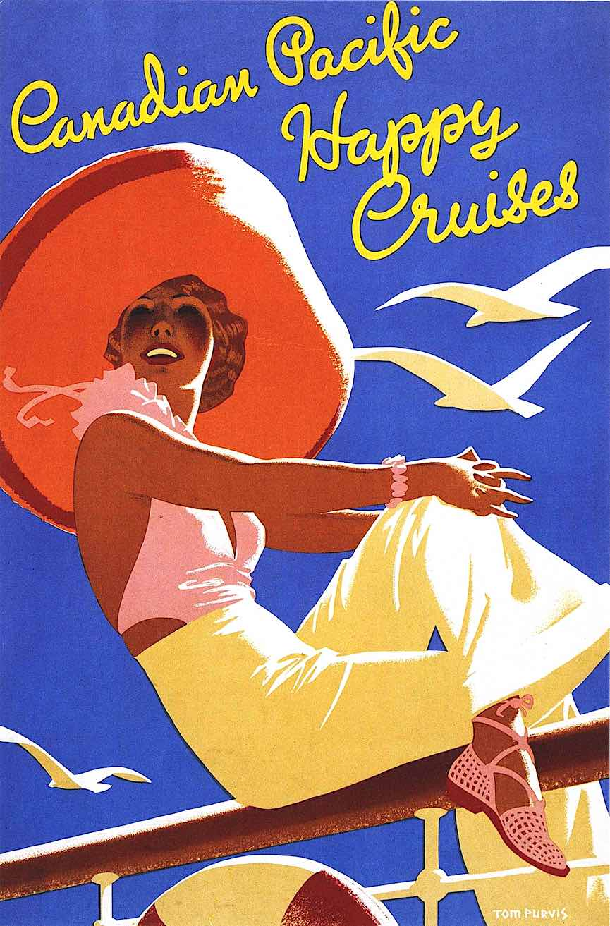 Canadian Pacific Happy Cruise poster by Tom Purvis