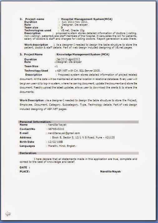 Job Resume Formats Resume Example Free Samples Examples Format - Simple Resume Format For Freshers