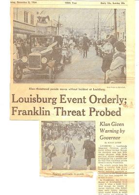 Into The LIGHT Louisburg Parade Threatened By KKK
