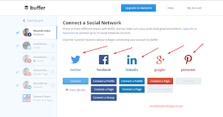 mengirim posting secara otomatis ke Twitter, LinkedIn, Google plus