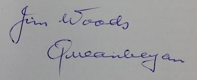 Jim Woods autograph