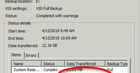 Mike's Software Development Blog: Windows Server Backup: Vague