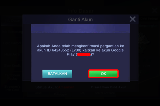 Cara Bermain 2 Akun Mobile Legends di HP