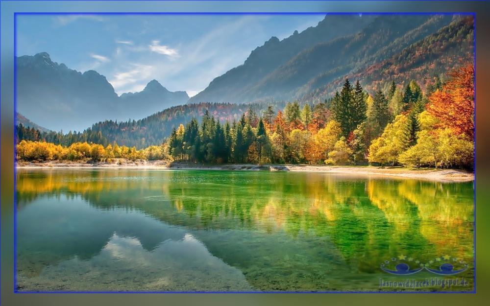 Piękna Jesień na Planecie Ziemi - Słowenia Góry Jezioro Las - DuchowyUzdrowiciel Berlin