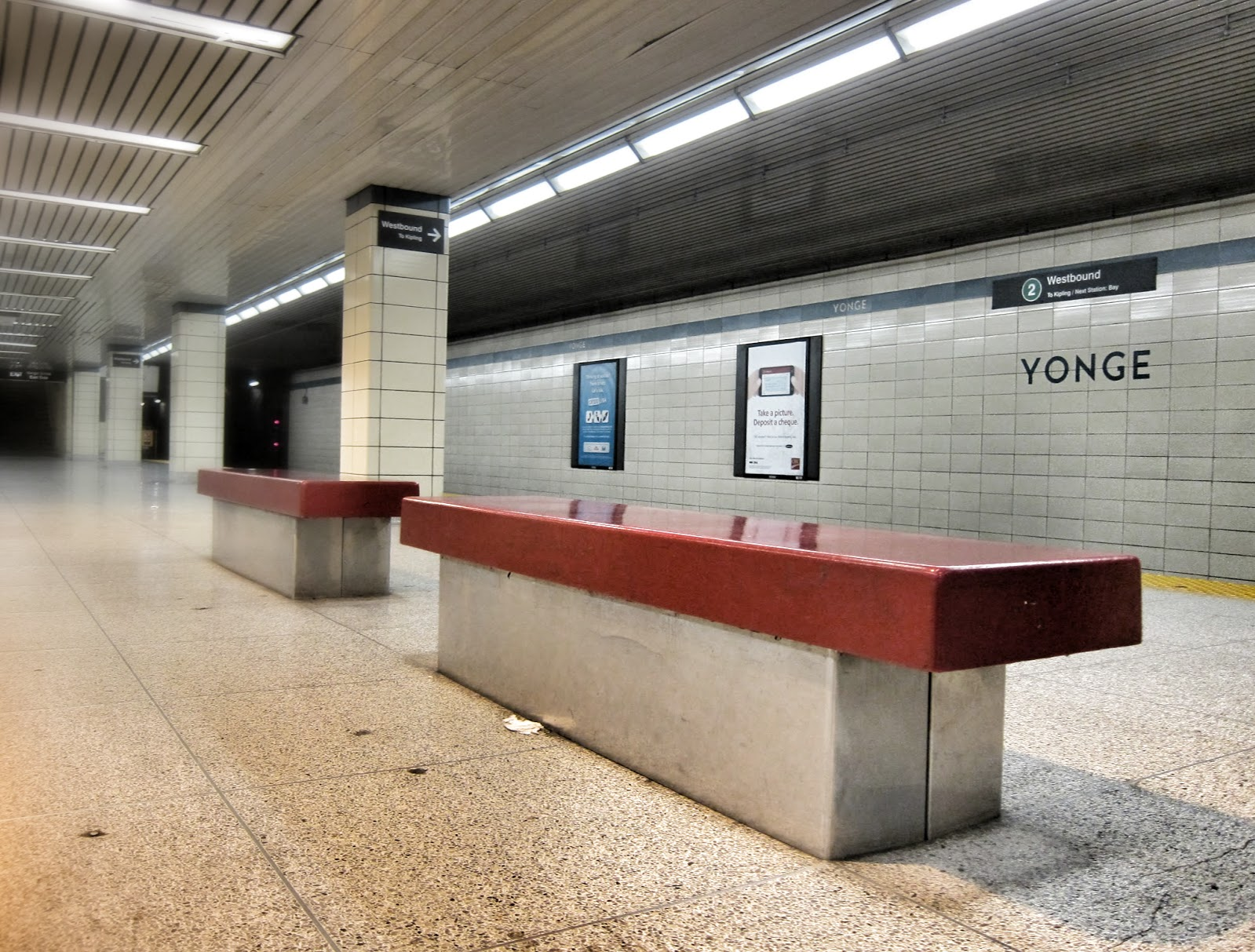 Yonge station, Bloor-Danforth line.