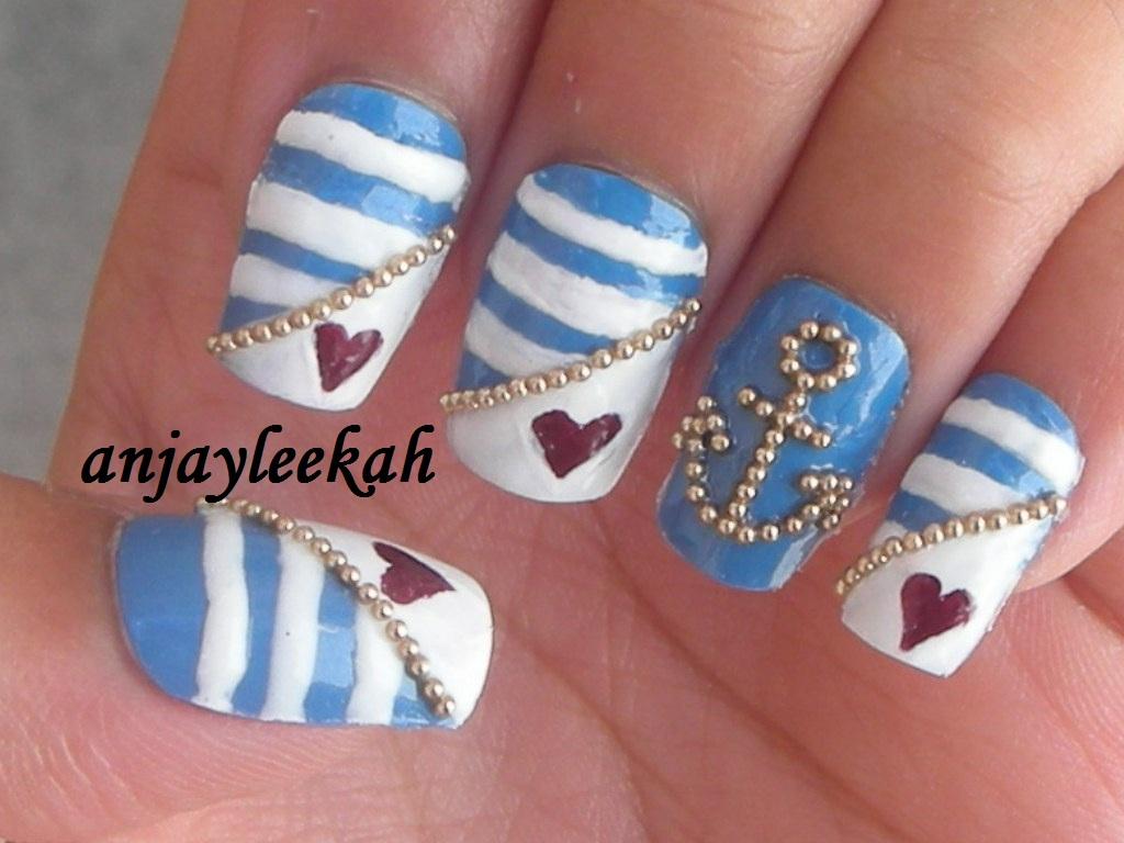 nautical nail designs
