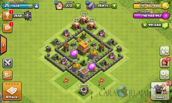 Bentuk Base Coc Th 4 Terkuat 4