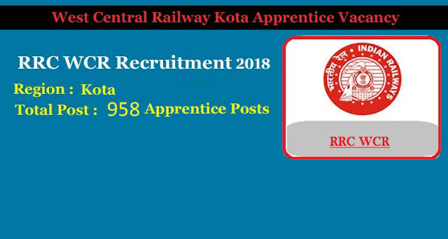 Railway Requirement Cell Western Central Region (WCR) RRC WCR Trade Apprentice Requirement 2019 theskyindia.com