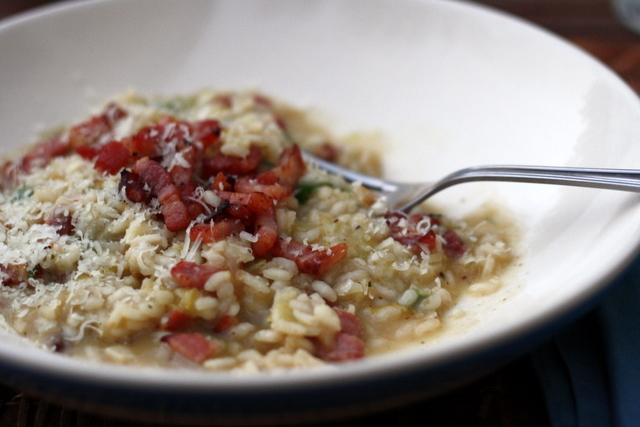 leek and pancetta risotto