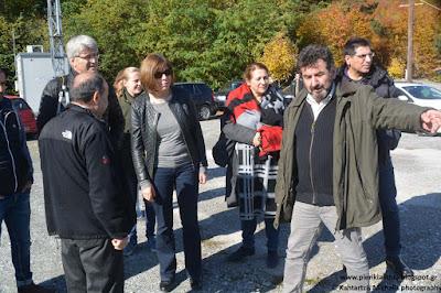 Η επικεφαλής των Πρασίνων στην Ευρωβουλή κ. Rebbeca Harms στα Πιέρια Όρη για το θέμα των ανεμογεννητριών.